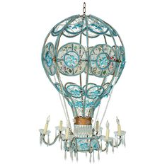 1stdibs - Italian Beaded Hot Air Balloon Chandelier explore items from 1,700  global dealers at 1stdibs.com