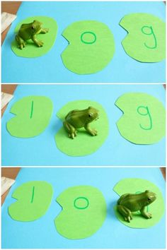 SAM -Use the frogs to hop from lily-pad to lilypad blending sounds and creating words! A great activity for preschoolers and kindergartners! Frog Activities, Spring Activities, Language Activities, Reading Activities, Teaching Reading, Fun Phonics Activities, Phonics Centers, Reading Fluency, Guided Reading