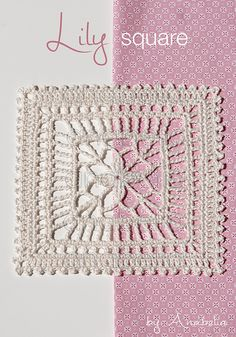 Anabelia craft design: crochet for home