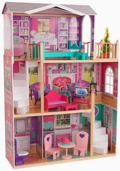 KidKraft Elegant Dollhouse is large enough for American Girl Dolls!