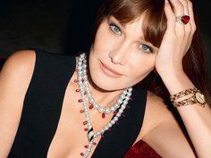 Carla Bruni models for Bulgari Diva Collection