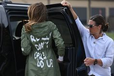 Melania Trump Wore a Jacket Saying I Really Dont Care on Her Way to Texas Shelters