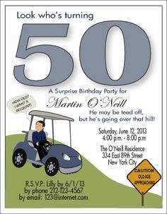 Funny 50th Golf Birthday Invitations