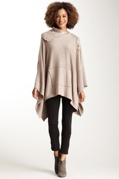 HauteLook | Love Stitch: Ribbed Funnel Neck Poncho