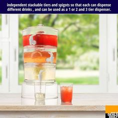 stacking drink dispenser. I WANT THIS!