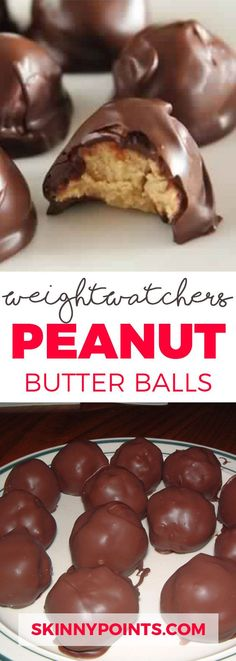 Peanut butter balls with Only 2 weight watchers Smart Points
