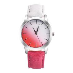 >> Click to Buy << Retro Montre Rainbow Design Leather Strap Analog Alloy Quartz Wrist Watch Relogio Masculino Clock Dignity Dropshipping JU10 #Affiliate