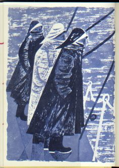 Robert Tavener illustration from the Kynoch Press Notebook and Diary for 1958