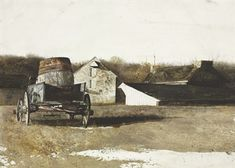 Andrew Wyeth (b. 1917)  Cider Barrel  signed 'Andrew Wyeth' (lower right)  watercolor and pencil on paper  22 x 29 in. (55.9 x 73.7 cm.)  Ex...