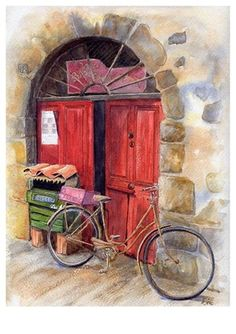Avril Soldani   WATERCOLOR      Chats SDF (Sans Domicile Fixe)