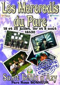 """Affiche concert """"Les Mercredis du Parc"""""""