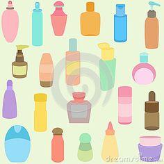 Botella, perfume, vidrio, envases en pastel