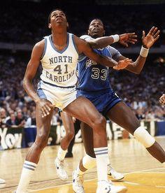 Sam Perkins & Patrick Ewing- 1982 NCAA Final