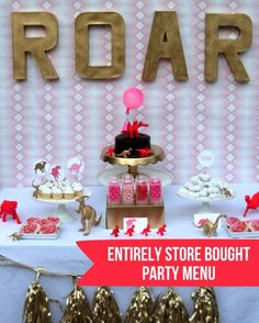 girly dinosaur party: easy store bought menu - One Charming Party