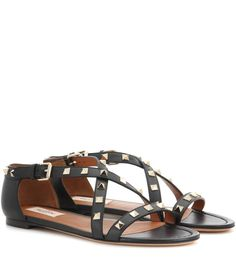 VALENTINO Rockstud leather sandals. #valentino #shoes #sandals
