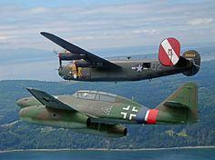 B-24 LIBERATOR & ME262 WWII