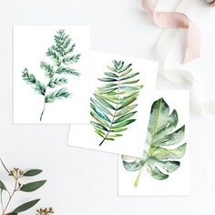 Botanical Print Set Large Printable Watercolor Illustration image 2 Botanical Wall Art, Botanical Prints, Making Money On Etsy, Cheap Wall Art, Opening An Etsy Shop, Etsy Shop Names, Leaf Art, Free Prints, Watercolor Illustration