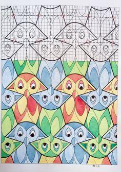 #regolo54 #tessellation #tiling #wallpaper #handmade #watercolor #aquarelle…