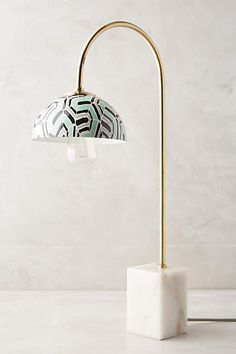 Marble beauty = want! Winding Course Table Lamp - anthropologie.com