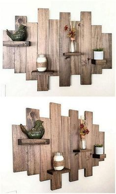 Very Beautiful Pallet Shelves Plans