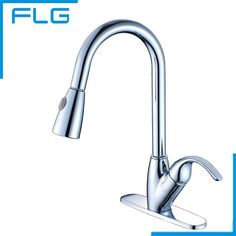 Newly Design 360 Swivel 100% Solid Brass Single Handle Mixer Sink Tap Pull Out /Down Chrome Finishing Kitchen Faucet
