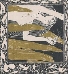 Koloman Moser (Austrian, 1868-1918). Woglinde. Ver Sacrum, 1901.