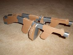 Guy Smiley's Guts: How to Hand-make Cardboard Tommy Guns