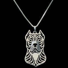 Pit Bull Outline Pendant Necklace - If you love your dog, this necklace is perfect way to show it.
