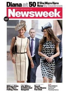 Princess Diana & Kate - Cover of Newsweek