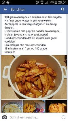 Gekruide aardappel schijfjes