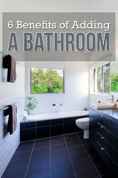Improve privacy and functionality in your home by adding another bathroom. Learn all costs and considerations for building a bathroom addition. #homeimprovement #bathroomremodel