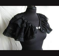 Capelet Segura, victorian, steampunk, historical, black lace Somnia Romantica by Marjolein Turin. $59.00, via Etsy.