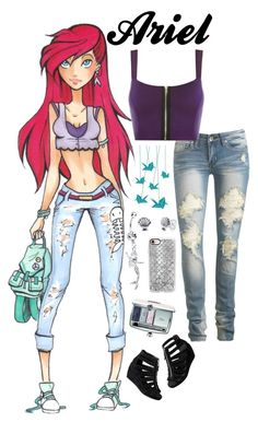 """Disney High - Ariel"" by laceyleanne18 ❤ liked on Polyvore featuring Surface Collective, Disney, Wet Seal, WearAll, Christian Dior, H&M and Casetify"
