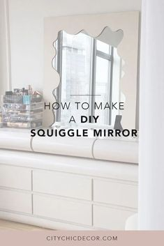Looking to DIY your own unique mirror? Here is an easy DIY project for a quick DIY mirror. This tutorial will spark tons of ideas for a new statement piece in your home! #diymirror #diymirrorframe Renters Solutions, Amazon Home Decor, Unique Mirrors, Studio Apartment Decorating, Studio Living, Diy Mirror, Small Living Rooms, Easy Diy Projects, Bedroom Decor