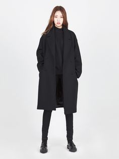 LOOKAST CHAPTER #6 - Black 4 pocket oversized coat