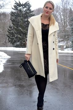 Winter White and Black Lace