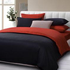 Red And Black Black Duvet Cover Set Luxury Bedding