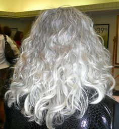 Perfect Gray Hair by laurasmoncur, via Flickr - I have curls...I hope they are like this one day.........
