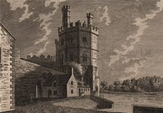 WALES/CASTLES: Caernarvon Castle (Plate II); Antique 18th century copperplate print, 1776; approximate size 10.0 x 14.5cm, 4 x 5.75 inches