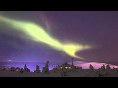 Aurora borealis northern lights in Levi in Lapland Finland