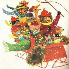 Christmas illustration/artwork by J.P. Miller