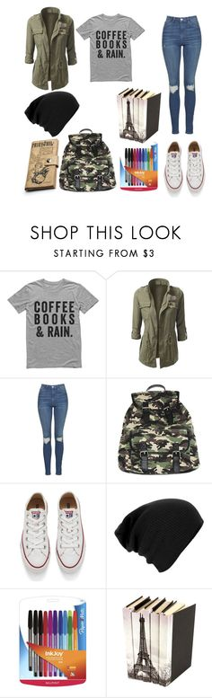 """Untitled #183"" by aye-its-me-lila on Polyvore featuring Topshop, Wet Seal, Converse and Paper Mate"