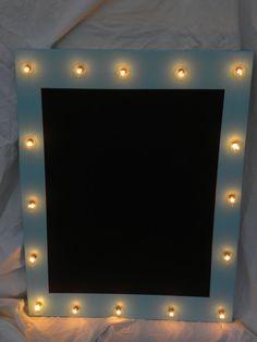Light Up Marquee Chalkboard Robbins egg blue by HunterSprings, $79.99