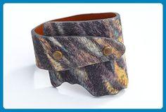 Genuine Leather Wide-Wrap Bracelet in Urban Safari - Wedding bracelets (*Amazon Partner-Link)