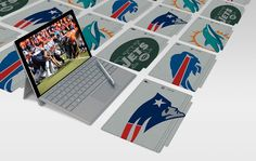 They might be a mouthful to ask for, but the new NFL-inspired Type Covers just… 32 Nfl Teams, Microsoft Surface Book, Surface Pro, Tech News, Type, Inspired, Cover, Inspiration, Biblical Inspiration