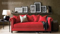 I want that rustic shelf above my couch...  Now!  Crate & Barrel Fall 2011 Catalog