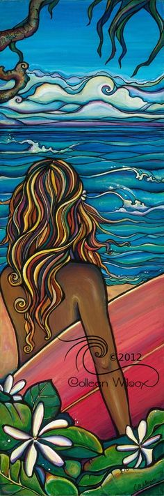 North Shore by Colleen Wilcox ~ tropical ~ surfer
