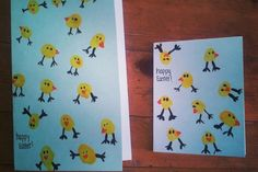 Easter Ideas - Wow what a good Idea. I love these thumb print chick Easter cards. - Easter Ideas – Wow what a good Idea. I love these thumb print chick Easter cards so much. You cou - Easter Card Sayings, Diy Easter Cards, Easter Art, Easter Crafts For Kids, Easter Ideas, Thumb Prints, Easter Activities, Easter Holidays, Kids Cards