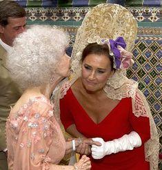 Carmen Tello, en la tercera boda de Cayetana de Alba