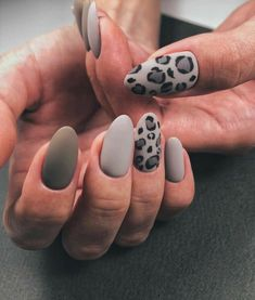 Leopard Nail Designs, Nail Art Designs, Nails Design, Salon Design, Stylish Nails, Trendy Nails, Hair And Nails, My Nails, Happy Nails